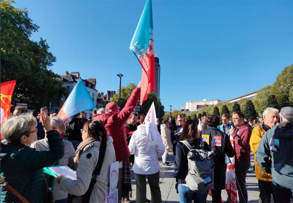 Les Insoumis d'Angers ont rejoint la manifestation