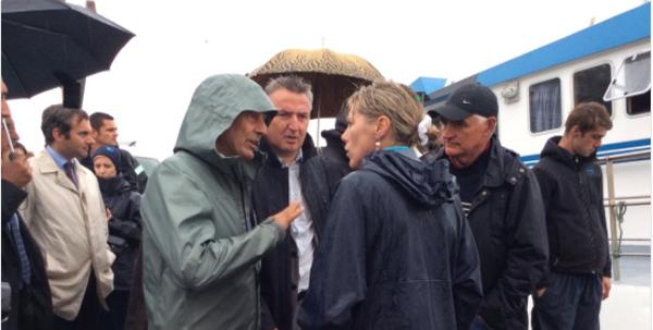 Nicolas Hulot en visite à Brest et au Conquet, vendredi - Ouest-France
