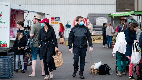 Marché de Kérinou Brest masque obligatoire