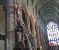 Daniel Bougeard examine Saint-Aubin
