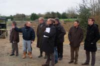 Visite de chantier pour les élus et responsables des services, guidés par Sébastien Vizine.