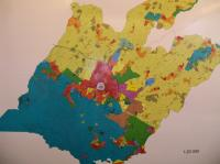 Le PLU de Guérande. Gilles Bernier était installé au Nord-Ouest de la zone bleue