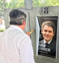Franck Louvrier en campagne électorale