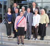 Stéphanie  Phan Thanh nouveau maire de Guérande et ses adjoints
