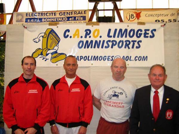Patrice Adam, Gérard Leitere, Jean Salaün et René Nicoleau.