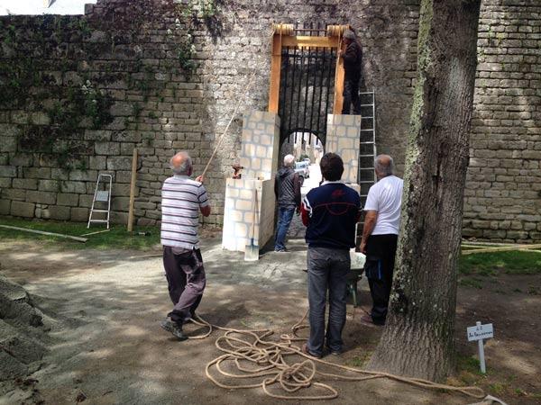 Préparation de la fête médiévale