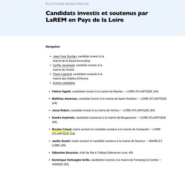 Nicolas Criaud soutenu par LREM