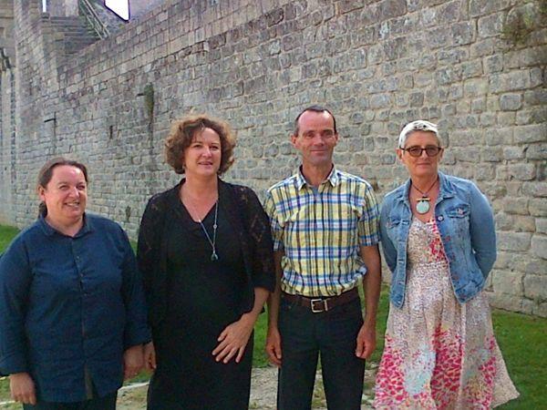 Dominique Migault, Hélène Challier, Hervé Naêl et Fabienne Germain