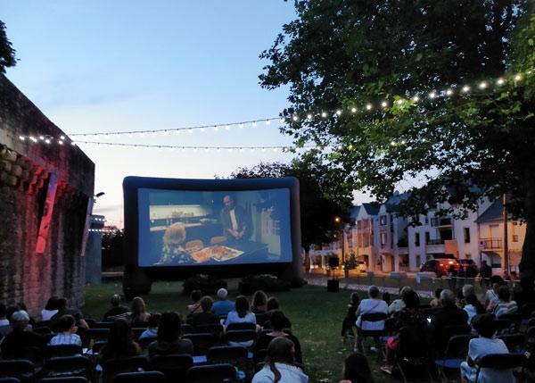 Le cinéma de plein air à Guérande