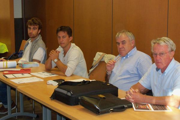 Hubert Soly, Jean-Yves Botrel, Gwénaël Le Gal et Benoît Audrain.