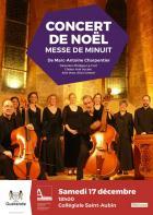 Concert de Noël, donné à la Collégiale Saint-Aubin.