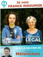 Législatives 7ème circonscription de Loire-Atlantique : Catherine Legal la France insoumise va à la rencontre des gens.
