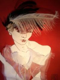 Portrait au gant rouge n°5.