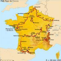 Le parcours de 1988 qui commence à La Baule
