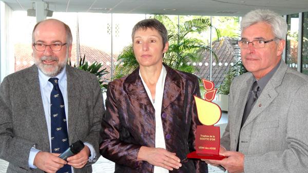 De gauche à droite : Adjoint Philippe Gervot, Françoise Rousseau, Charles Monfort