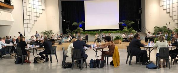Les Conseillers communautaires en réunion aux Floralies à La Baule