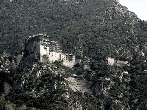 Monastère sur mont Athos