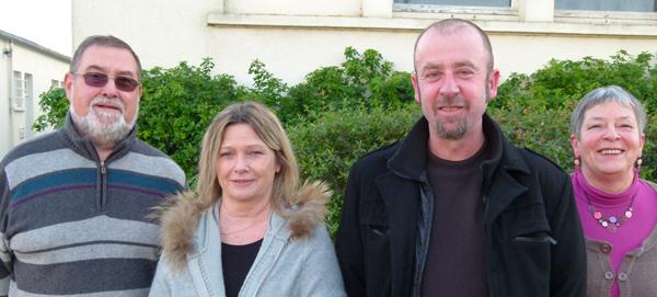Alain Le Guen, Myriam Morineaux, Michel Le Huédé, Françoise Cabon