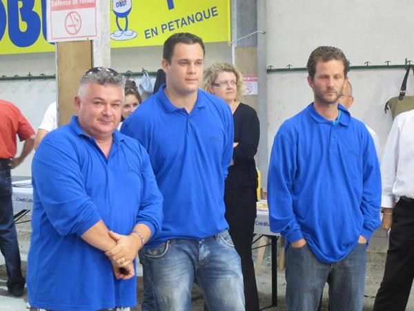 Equipe locale, T. Binet, F. Russon, Blanchard