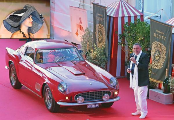 Ferrari 250GT Berlinetta competizione«Tour de France 1958» qui a ouvert le Concours d'élégance l'an passé
