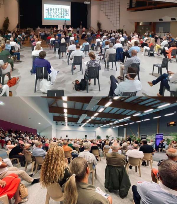 150 à 200 personnes à la réunion de Gontier, 250 à 300 persones à la réunion de Louvrier,