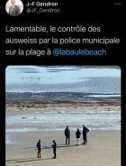 LaBaule:la police municipale contrôle les attestations sur laplage