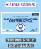 Le maire de LaBauledécide le retour du masqueobligatoire