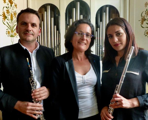 Paul Ronan LADMIRAULT, hautboïste, Florence LADMIRAULT, Organiste, Claire LADMIRAULT, flûtiste
