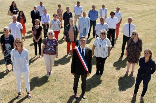 Les élus de La Turballe et le maire Didier Cadro