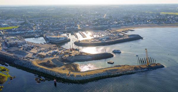 Le nouveau port de La Turballe prend forme