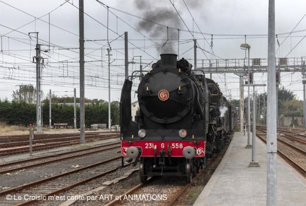 Le croisic le retour d une vieille locomotive à vapeur ans après
