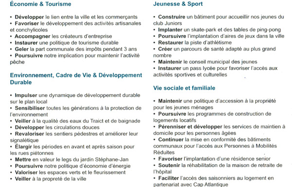 Le Croisic Municipales 2014 Michele Quellard Presente Son Programme