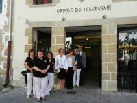 L'équipe de l'Office du Tourisme et Michèle Quellard
