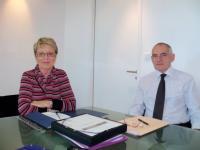 Michèle Quellard, maire du Croisic, et M. Le Cam, premier adjoint.