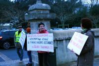 Manifestants anti aéroport à Batz-sur-mer