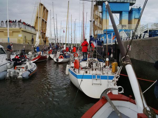 L'arrivée des bateaux à Arzal