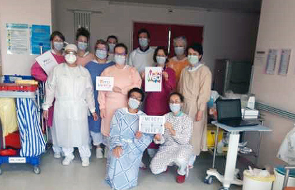 Les soignants de la cellule