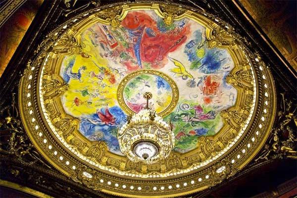 MARC CHAGALL / Plafond de l'Opéra Garnier Paris