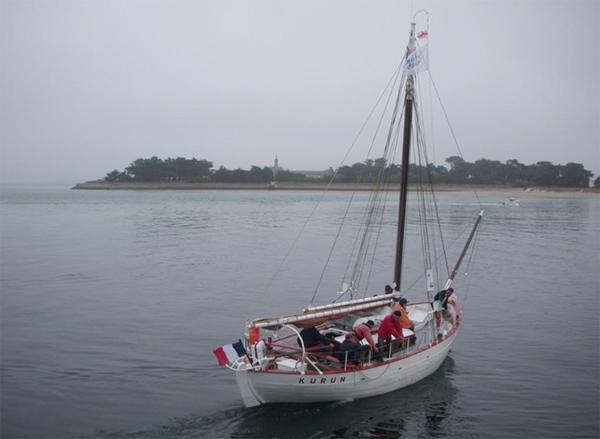 Le Kurun croisière à l'île Dumet avec l'association Bol d'Air