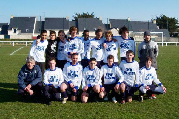L'équipe des U 17 entraînée par Patrick Pradel