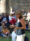 Sylvianne Blomme Pille conte à la chapelle du Mûrier