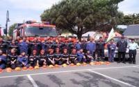 Les jeunes sapeurs pompiers du Pouliguen et ceux de Kislegg (Allemagne)