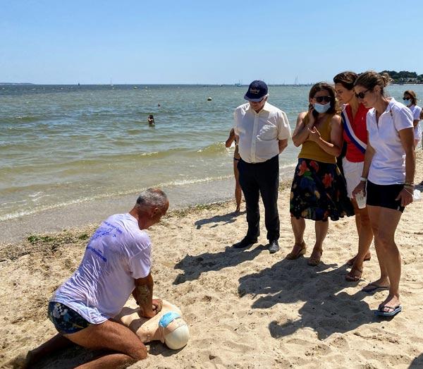 Beach Tour 44 au Pouliguen avec la présence de RoxanaMaracineanu et Sandrine Josso