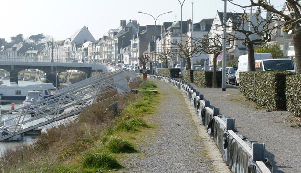 «Après travaux, le quai deviendra un lieu de déambulation agréable» souligne le Maire du Pouliguen