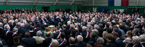 Le Président Macron a ouvert le grand débat avec les maires en Normandie