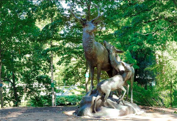 Septembre 2018 : La statue après restauration au moment de sa repose au Jardin des Plantes