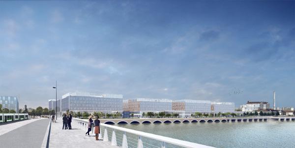 Maquette du future hôpital de Nantes