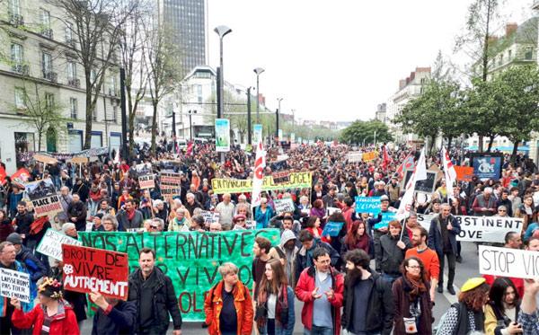 La manifestation en soutien à la ZAD