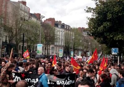La manifestation syndicale