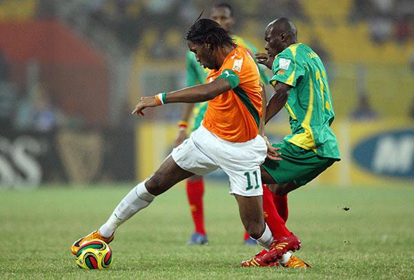 Didier Drogba à la pointe de l'attaque de la Côte d'Ivoire